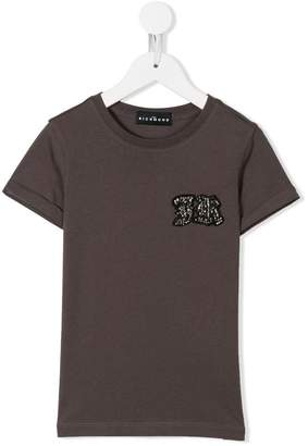 John Richmond Junior embellished logo patch T-shirt