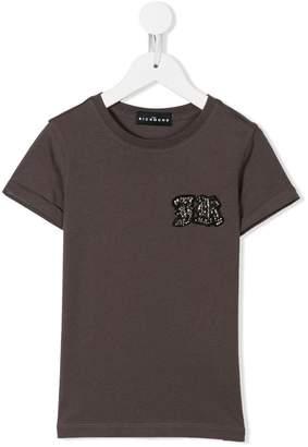 John Richmond Kids embellished logo patch T-shirt