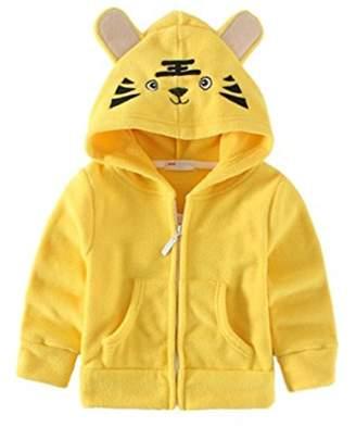 JELEUON Kids Baby Unisex Fleece Animal Cartoon Hoodies Jackets Outwear 6-12 Months