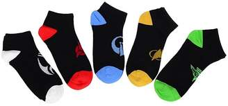 Factory Robe Star Trek The Next Generation Races Icon No-Show Socks, 5 Pack 9-12
