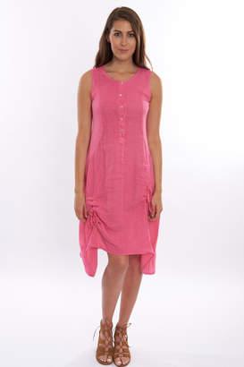 Femme Fatale Fuschia Linen Dress