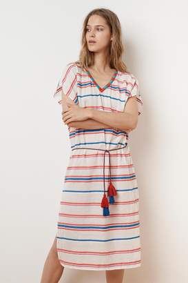 Velvet by Graham & Spencer ZANETTA STRIPE EMBROIDERED KAFTAN