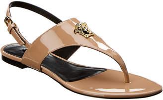 61719320d800c Versace Medusa Palazzo Sling Back Patent Sandal