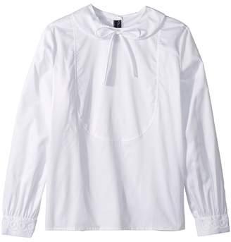 Oscar de la Renta Childrenswear Bow Front Long Sleeve Blouse Girl's Blouse
