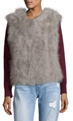 Fluffy Feather Vest
