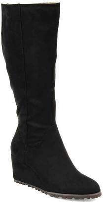 Journee Collection Parker Extra Wide Calf Wedge Boot - Women's