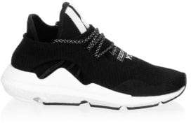 Y-3 Round Toe Lace-Up Sneakers