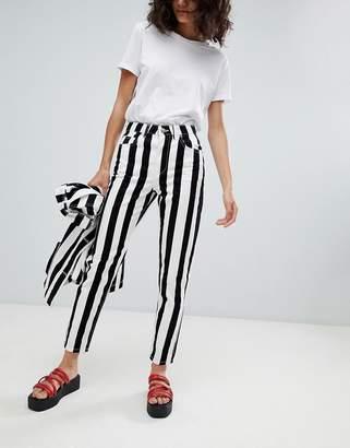Uncivilised Reff Stripe Mom Jeans