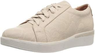 Gentle Souls by Kenneth Cole Women's Haddie Platform LACE-UP Fashion Sneaker- Embossed Shoe