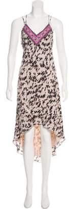 Haute Hippie Silk Printed Sleeveless Midi Dress