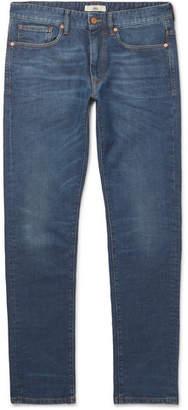 Incotex Sky Slim-fit Stretch-denim Jeans - Indigo