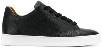 Dioniso Black pebbled mid top sneakers