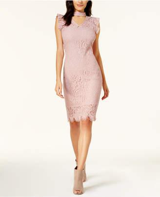 Bar III Lace Choker Dress