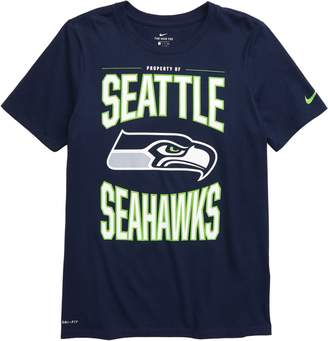 Nike NFL Logo Property of Seattle Seahawks Dri-FIT T-Shirt