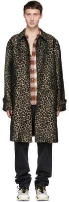 BEIGE Adaptation Black and Leopard Vintage Trench Coat
