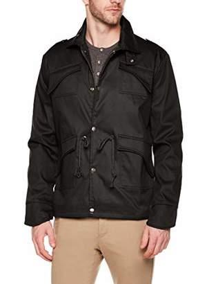 AUSTIN MILL Men's Slim Full Zip Up Stand Collar Lightweight Windbreaker Jacket