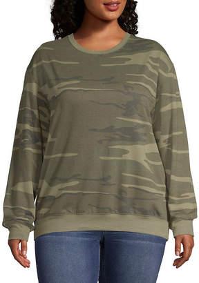 Hybrid Tees Camo Sweatshirt - Juniors Plus