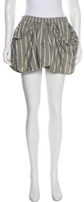 Alexander Wang Silk Striped Shorts Grey Silk Striped Shorts