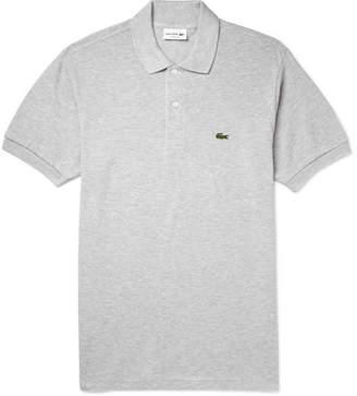 Lacoste Melange Cotton-Pique Polo Shirt - Gray