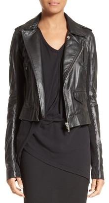 Women's Rick Owens Stooges Leather Jacket $1,655 thestylecure.com