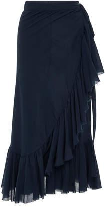 Loup Charmant Ruffled Cotton Wrap Skirt