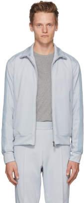 Bottega Veneta Blue Zip-Up Track Jacket