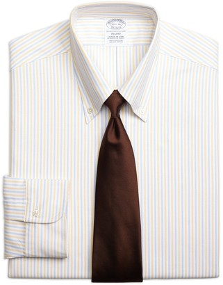Brooks Brothers Original Polo Button-Down Oxford Regent Fitted Dress Shirt, Alternating Bengal Stripe