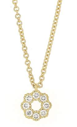 Bony Levy 18K Yellow Gold Diamond Flower Pendant Necklace