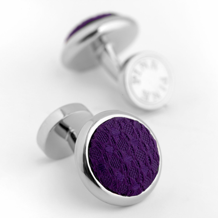 Thomas Pink Woven Button Cufflinks