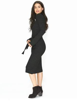 2c948ed1e51 Girls On Film Belted Knit Maxi Jumper Dress - Black