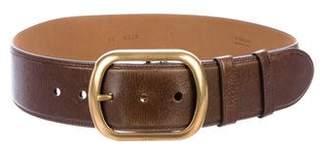 Prada Oversize Buckle Leather Waist Belt