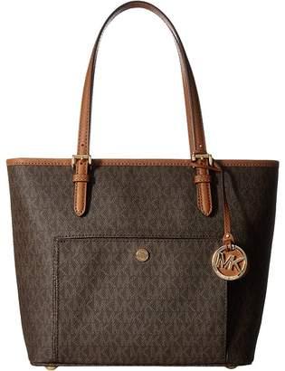 MICHAEL Michael Kors Jet Set Item Medium Top Zip Snap Pocket Tote Tote Handbags