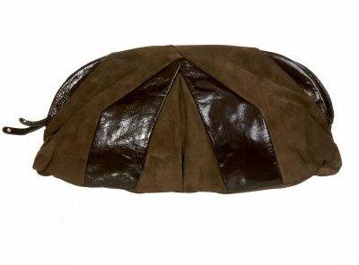 Oversized Zip Leather Clutch