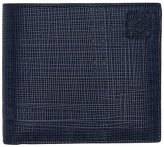 Loewe Navy Linen Bifold Wallet