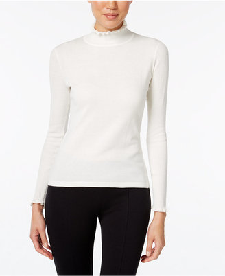 CeCe Ruffled Turtleneck Sweater $89 thestylecure.com