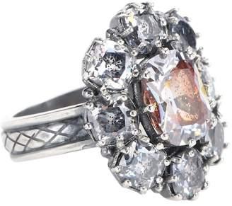 Bottega Veneta Sterling silver ring with cubic zirconia