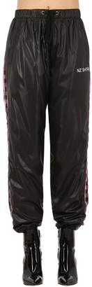 Natasha Zinko NZ KURTKA CHECKERBOARD NYLON TRACK PANTS