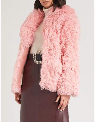 Miu Miu Oversized-collar shearling coat