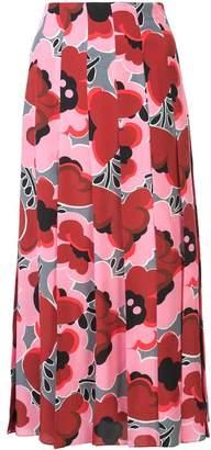 Gucci Poppies silk skirt