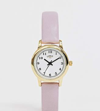 Limit faux leather watch in purple