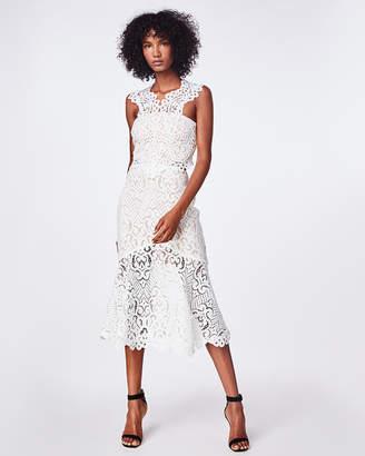 Nicole Miller Swirl Lace Midi Dress