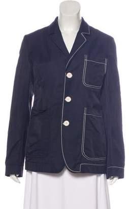Stella McCartney Notch-Lapel Button-Up Jacket