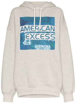 Ashish American Excess sequin embellished cotton hoodie