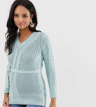 e0ff6c3d934bc Licious Mamalicious maternity organic cotton chunky knitted sweater
