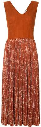 Nina Ricci pleated printed dress