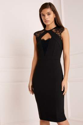 fa76e069f652 Next Lipsy Lace Insert Bodycon Dress - 4