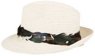 519fed74890 Filù Hats Feather Trim Sinatra Trilby Hat