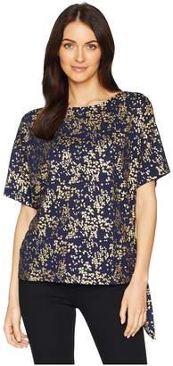 MICHAEL Michael Kors Scatter Blossom Tie Top Women's Clothing