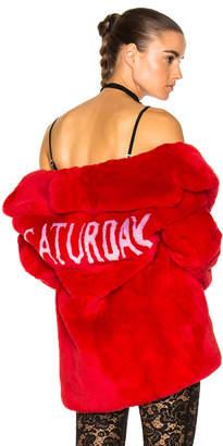 Alberta Ferretti Saturday Rabbit Fur Coat
