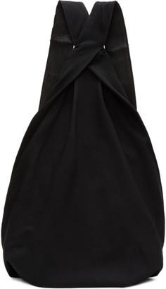 Yohji Yamamoto Black Drape Backpack $720 thestylecure.com